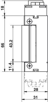 elektro t r ffner effeff 143 standard f r feuerschutzt ren im h fele schweiz shop. Black Bedroom Furniture Sets. Home Design Ideas