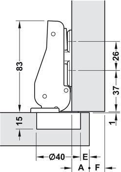 Relativ Spezialscharnier, für breite Holztüren bis 900 mm Türbreite - im AW21