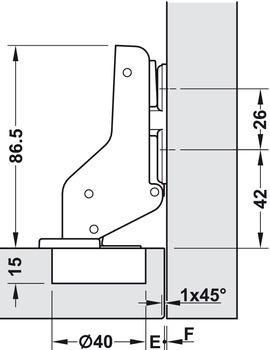 Super Spezialscharnier, für breite Holztüren bis 900 mm Türbreite - im MC04