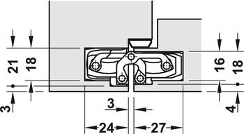 Simonswerk TECTUS TE 240 3D N Objektband verdeckt liegendes Türband Scharnier
