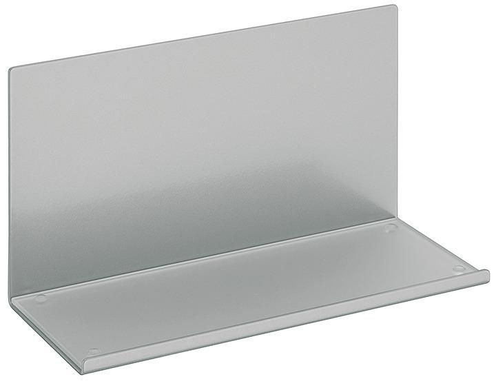 ablageelement mit satinierter glasplatte stahl relingsystem magnetisch im h fele schweiz shop. Black Bedroom Furniture Sets. Home Design Ideas
