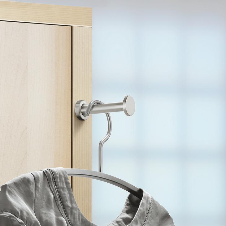 garderobenhaken aus edelstahl ausziehbar zum kleben. Black Bedroom Furniture Sets. Home Design Ideas