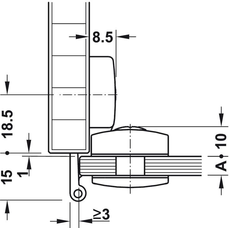 glast rscharnier aufliegend auflage 3 oder 6 mm im h fele schweiz shop. Black Bedroom Furniture Sets. Home Design Ideas