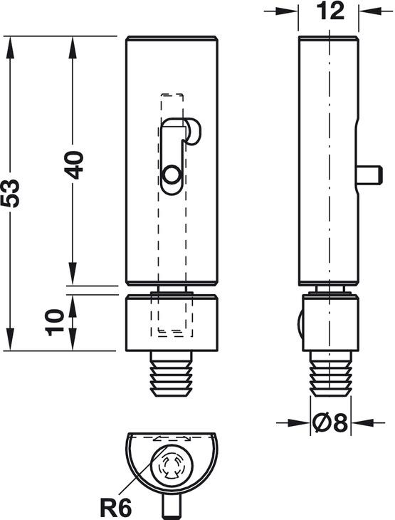 grendelriegel edelstahl zum kleben zum einpressen im h fele schweiz shop. Black Bedroom Furniture Sets. Home Design Ideas