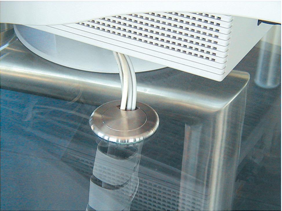 kabeldurchlass edelstahl zum kleben 2 teilig rund im. Black Bedroom Furniture Sets. Home Design Ideas