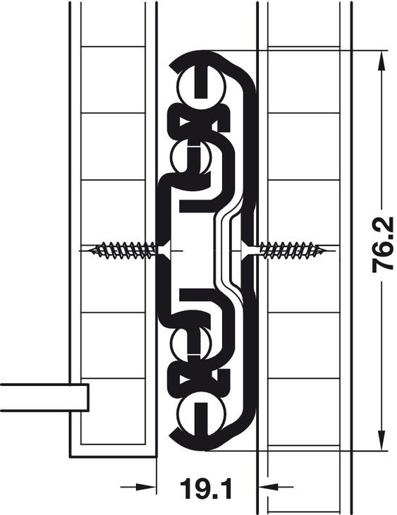 kugelf hrung vollauszug tragkraft bis 310 kg stahl seitliche oder aufliegende montage im. Black Bedroom Furniture Sets. Home Design Ideas