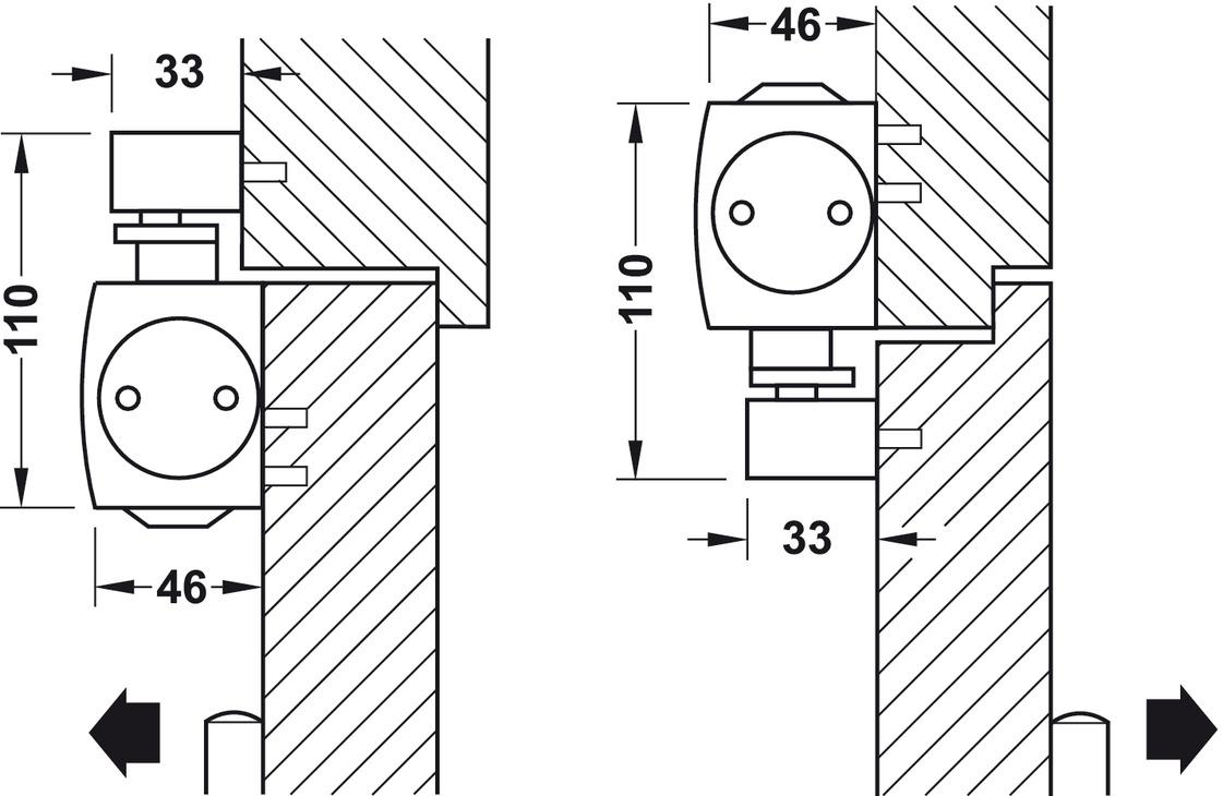 obent rschlie er geze ts 5000 ecline normalmontage bandseite en 3 5 im h fele schweiz shop. Black Bedroom Furniture Sets. Home Design Ideas