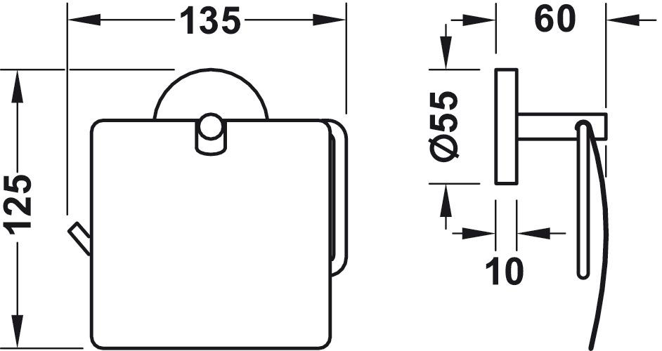 papierrollenhalter zum schrauben oder kleben im h fele schweiz shop. Black Bedroom Furniture Sets. Home Design Ideas