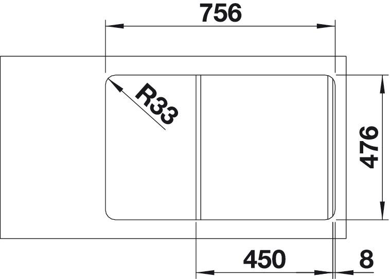 sp le edelstahl blanco lantos 45 s if compact im h fele schweiz shop. Black Bedroom Furniture Sets. Home Design Ideas