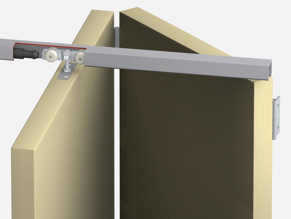 Ferrure pour portes coulissante pliante t fold garniture for Porte coulissante silencieuse
