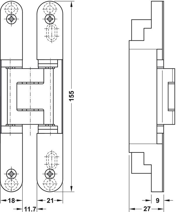 paumelle de porte simonswerk tectus te 240 3d n pose. Black Bedroom Furniture Sets. Home Design Ideas