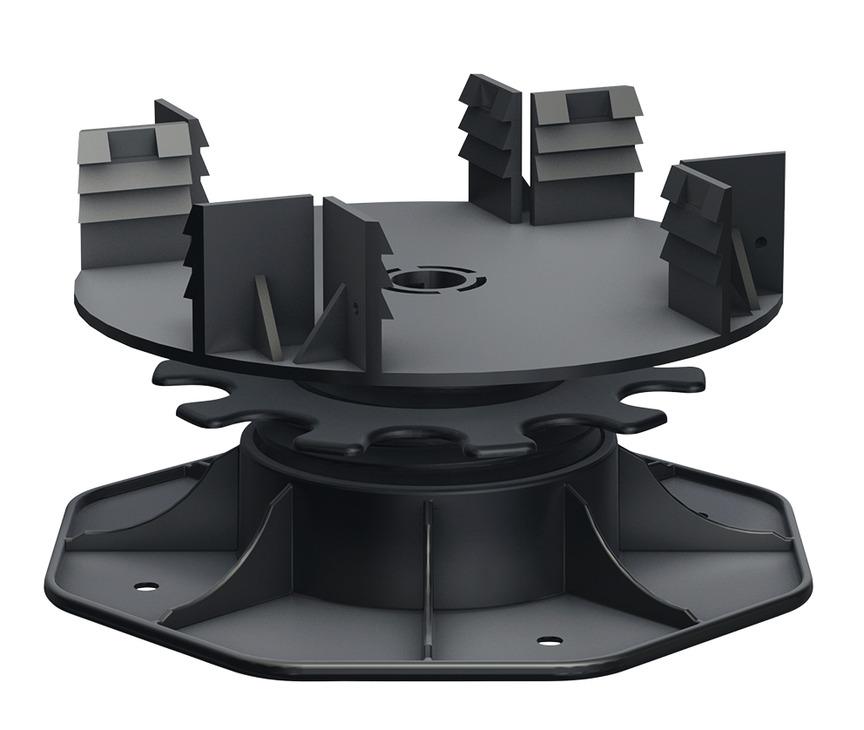pieds de terrasse r glables pour rail big isostep avec plots supports r glables en hauteur. Black Bedroom Furniture Sets. Home Design Ideas